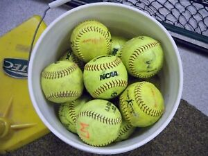 """Lot of (23) 12"""" Fastpitch Softballs Gently Used"""
