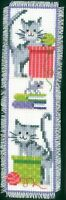 Cats I : Vervaco Counted Cross Stitch Kit : Bookmark -  PN0143915