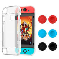 Protective Case For Nintendo Switch Soft TPU Grip Case Cover+Joy-Con Thumb Grips