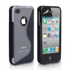 Étuis, housses et coques avec clip iPhone 4 en silicone, caoutchouc, gel pour téléphone mobile et assistant personnel (PDA)