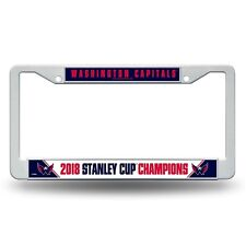Washington Capitals Stanley Cup Champions License Plate Cover Frame NEW 2018