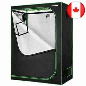 """VIVOSUN Horticulture 48""""x24""""x60"""" Mylar Hydroponic Grow Tent with Obeservation Wi"""