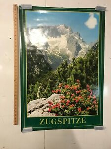 Zugspitze Mountain Vintage Travel Poster 30x38 Germany Nature Beauty Bavaria NOS