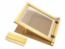 More details for a3 screen printing starter kit wooden hinged frame & squeegee complete set 78530