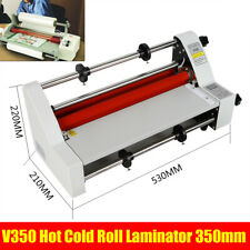 Hot Cold Roll Laminator Digital Display 110v Single And Dual Sided Four Rollers