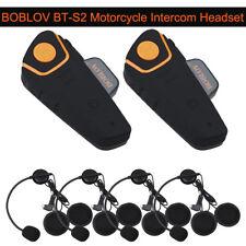 BOBLOV BT-S2 Motorcycle Motorbike 1KM Intercom Radio Helemt Riding Headset FM