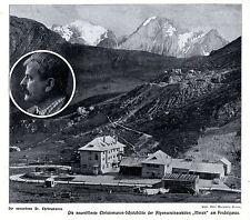 Les nouvelles ouvrit Christomanos-schützhütte Alpes Club Merano le pordoipasse 1911
