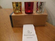 Partylite Snowflakes Tealight Trio P9230 Nib