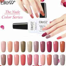 Elite99 10ml Soak Off 10ML Gel Polish Nude Colour Range Base Top Coat Nail Art
