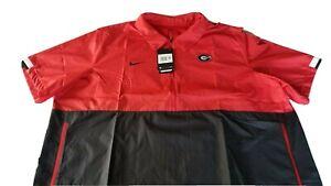 Georgia Bulldogs Nike Short Sleeve Windbreaker Football Shirt Mens Sz 2XL