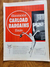 1958 Simmons Hide A Bed Sofas Ad  Carload Bargains Sale