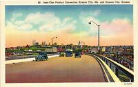 Vintage Postcard - White Boarder Inter City Viaduct Kansas City MO #4131