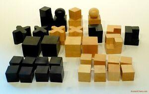 BAUHAUS CHESS MEN - CLASSIC MODERN ART DESIGN 20th CENTURY SET  (808)