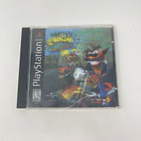 PS1 Crash Bandicoot Warped Playstation 1 Black Label 3D Hologram Tested