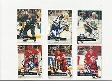 91/92 Pro Set Autographed Hockey Card Mike Ramsey Buffalo Sabres