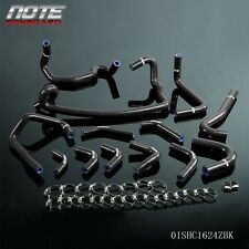 Silicone Heater Hose Clamps Kit For Nissan skyline GTR R33 R34 RB26DET Black