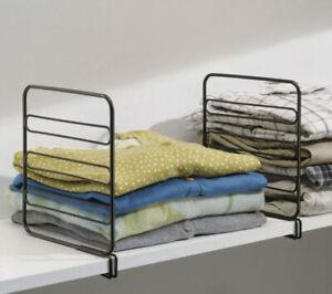 InterDesign Classico Bronze Kitchen Shelf Divider Slide Designer Organizers 2Set