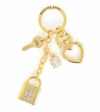 Juicy Couture Key Ring fob Purse Charm Padlock Key NEW