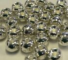"""TUNGSTEN FLY TYING BEADS SILVER 3.5 MM 1/8"""" 100 COUNT"""
