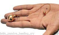Jet Round Ball Copper Plated Metal Pendulum Healing Dowsing A++ Metaphysical