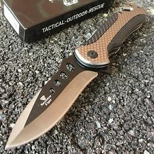 """8"""" Tactical Spring Assisted Opening Rescue Pocket Knife New Bowie 271GY"""
