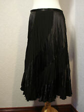 Gerry Weber black crinkle satin evening skirt 14-16