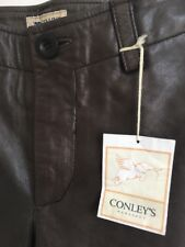 Brown Leather Motorcycle Pants by Conleys Manufacturing
