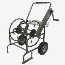 250' Industrial Heavy Duty Steel Hose Reel Cart Portable Outdoor Garden Storage