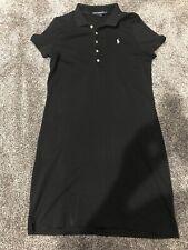 Ralph Lauren Sport Dress Black Polo Dress Size Large Blue Logo