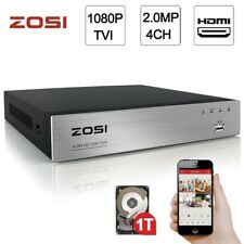 Zosi 1080p 2.0MP 4CH DVR HDMI Network P2P Free Mobile App for Security System 1T