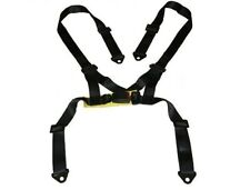 "2"" UNIVERSAL SINGLE 4 POINT HARNESS RACING SEAT BELT BLACK W/ SNAP IN BUCKLE"