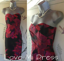 Principles - 50's Style Strapless Silk Corset Pencil Wiggle Dress 10 U38