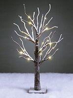 "New Snow Twig Tree 12"" 24"" 60cm 45cm Christmas Warm White LED Xmas Winter Lights"
