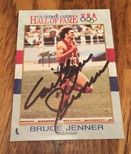 """Caitlyn """"Bruce"""" Jenner 1991 Impel U.S. Olympic Autograph Signed Trading Card #33"""