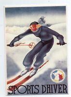Carte postale. SPORTS D'HIVER. Affiche PLM. Editions Clouet.