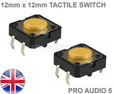 2x Omron 12mm x 12mm Tactile Switch - Akai 1000, 2000, 2000XL, 4000 - Tact UK