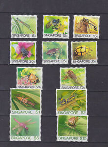singapore 1985 Sc 453/64,insects,set MNH     q1611