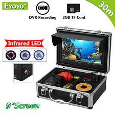 "EYOYO 8GB 30m IR 9""Color TFT 1000TVL Fish Finder Camera IR Sunvisor Night Vision"