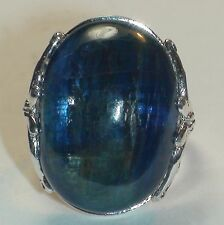 32.75 ct BEAUTIFUL! BIG! NATURAL KYANITE  RING  925 STERLING SILVER.SIZE 5.25.