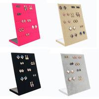 1Pc Velvet Earring Jewelry Showcase Display Rack Stand Organizer Holder FE