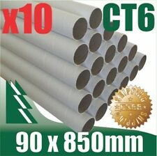 10 x Cardboard Mailing Tubes 90 x 1.8 x 850mm includes end caps BULK BUY