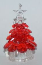 NEW BATH & BODY WORKS RED LIGHT UP TREE MAGNET LARGE 3 WICK CANDLE DECOR TOPPER