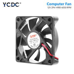 60 x 60 x 12mm 12V DC Brushless Cooling Fan Computer PC Case CPU Cooler Case Fan