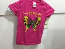 Ed Hardy youth girls 5/6 beaded graphic pullover s/s shirt