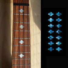 Slotted Diamonds ( Abalone Blue ) Fret Marker Inlay Sticker Decal For Ukulele