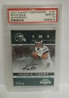 2007 Playoff Contenders Kevin Kolb Auto RC #181 PSA 10 Gem Mint