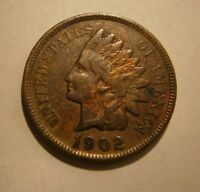 "1902 INDIAN HEAD CENT A CIRCULATED COIN ""COMBINED SHIPPING"" #17-166"
