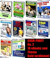 CASH-PAKET No. 2 - 10 eBooks zum Thema GELD VERDIENEN Sammlung  PACK PDF eBücher