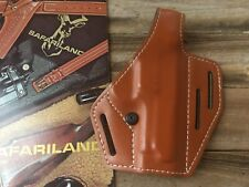 Vintage Safariland Brown 3 Slot OWB Lined Holster For S&W 6906 Round Trigger