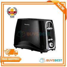 Breville 2-Slice Toaster Black With Defrost, Reheat & Cancel Function - VTT361